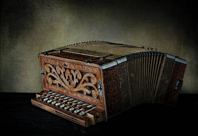 Photograph - Vintage Button Accordion by David and Carol Kelly