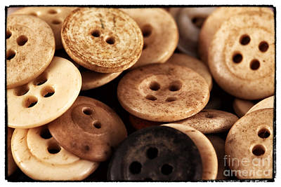 Photograph - Vintage Buttons by John Rizzuto