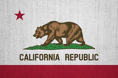 Flag Photograph - Vintage California Flag by Bill Cannon