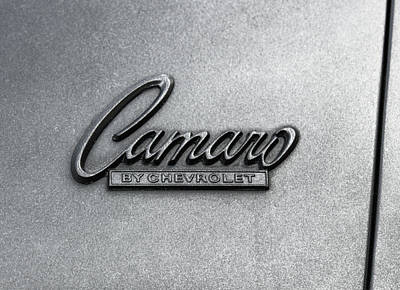 Side Panel Photograph - Vintage Camaro Side-panel Logo by Daniel Hagerman