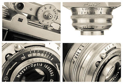 Vintage Camera - Collage Art Print by Rudy Umans
