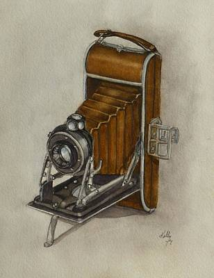 Painting - Vintage Camera From The 1930's by Kelly Mills