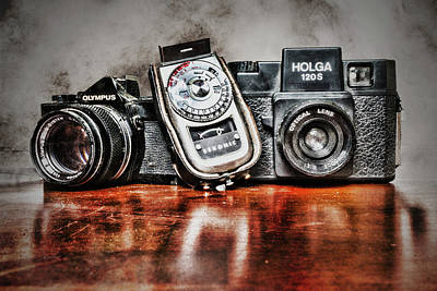 Photograph - Vintage Cameras And Light Meter by Sharon Popek