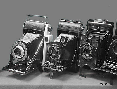 Photograph - Vintage Cameras Photography Design by Tom Conway