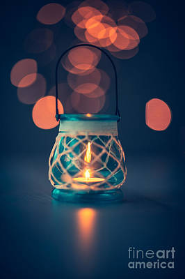 Photograph - Vintage Candle Lantern by Anna Om