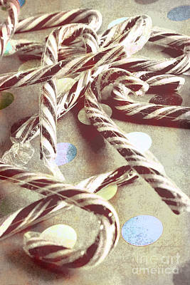 Seasonal Photograph - Vintage Candy Canes by Jorgo Photography - Wall Art Gallery