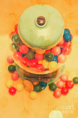 Confection Photograph - Vintage Candy Machine by Jorgo Photography - Wall Art Gallery
