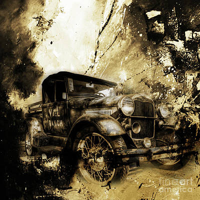 Sports Painting - Vintage Car 03 by Gull G