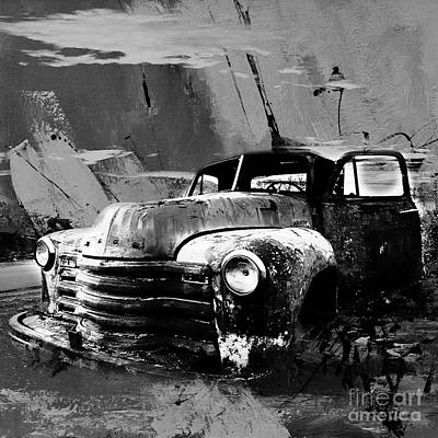 Canada Painting - Vintage Car 04 by Gull G