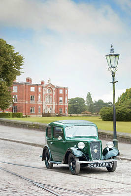 Photograph - Vintage Car And Mansion  by Lee Avison