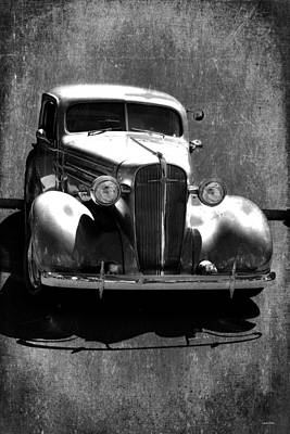 Photograph - Vintage Car Art 0443 Bw by Lesa Fine