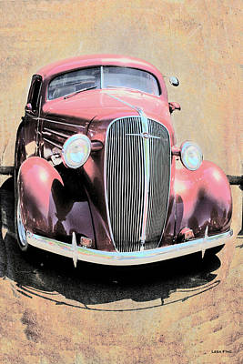 Mixed Media - Vintage Car Art Shuffle  0443 by Lesa Fine