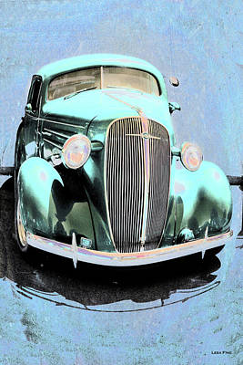 Photograph - Vintage Car Art Shuffle Teal by Lesa Fine