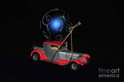 Photograph - Vintage Car Carrying Christmas Ornament by Akshay Thaker- PhotOvation