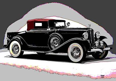 Vintage Car Art Print by Charles Shoup