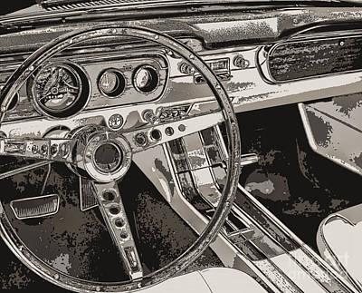 Vintage Car Dashboard Art Print