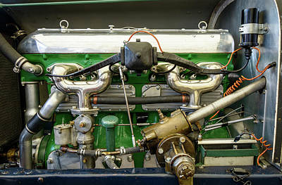 Photograph - Vintage Car Engine by Dutourdumonde Photography