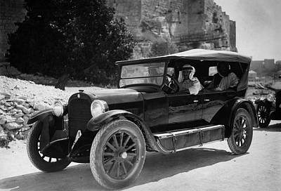 Transportation Royalty-Free and Rights-Managed Images - Vintage Car - Middle East - Circa 1930 by War Is Hell Store
