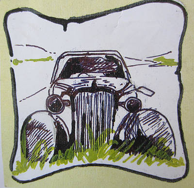 Painting - Vintage Car by Pallavi Karve