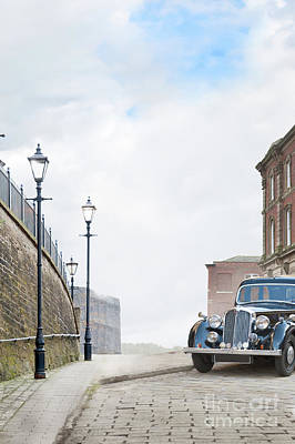 Vintage Car Parked On The Street Art Print by Lee Avison