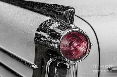 Photograph - Vintage Car Rain by Edward Fielding