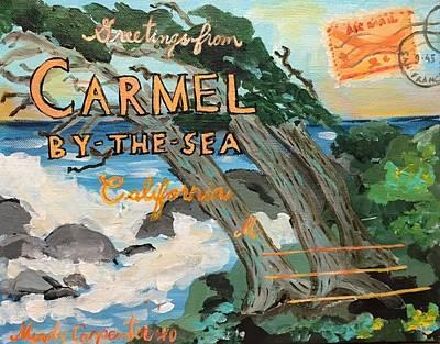 Painting - Vintage Carmel by Mindy Carpenter