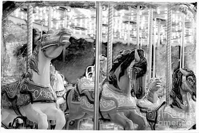 Photograph - Vintage Carousel by Nina Silver