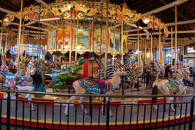 Photograph - Vintage Carousel by Suzanne Gaff
