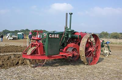 Vintage Case Tractor Art Print by Gerry Walden