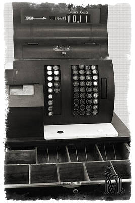 Photograph - Vintage Cash Register by Patricia Montgomery