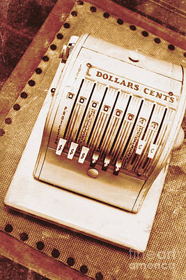 Vintage Cash Register  Art Print