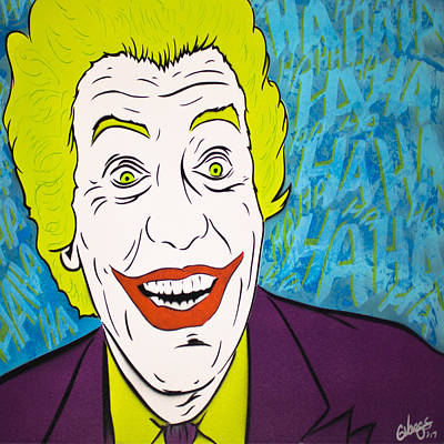 Woman And Owl Painting - Vintage Cesar Romero's Joker by Glenn Vaags