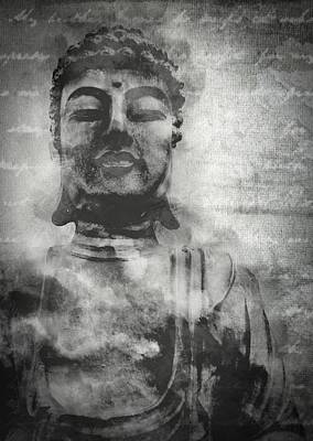 Photograph - Vintage Chalk Meditating Buddha by Ray Van Gundy