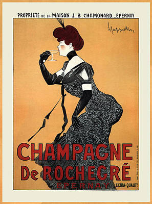 Photograph - Vintage Champagne Ad 1910 by Andrew Fare