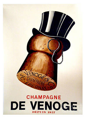 Wall Art - Painting - Vintage Champagne by Mindy Sommers