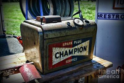 Photograph - Vintage Champion Spark Plug Cleaner by Paul Ward