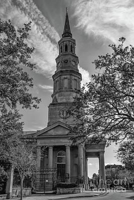 Photograph - Vintage Charleston Church Landmark by Dale Powell