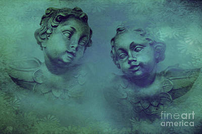 Religious Art Mixed Media - Vintage Cherubs by KaFra Art