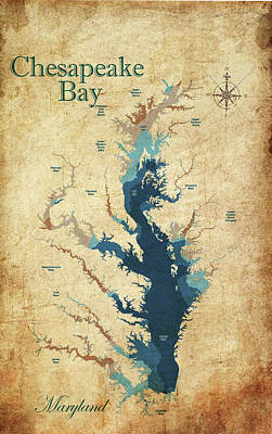 Digital Art - Vintage Chesapeake Bay  by Greg Sharpe