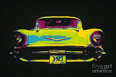 Digital Art - Vintage Chevy by Anne Sands