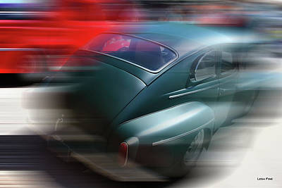 Photograph - Vintage Chevy Blur by Lesa Fine