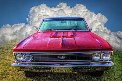 Photograph - Vintage Chevy Chevelle Super Sport In Hdr Detail by Debra and Dave Vanderlaan