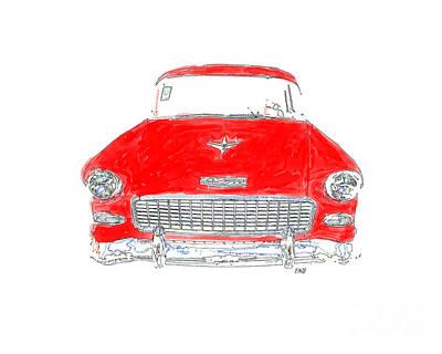Vintage Chevy Art Print by Edward Fielding