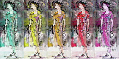Mixed Media - Vintage Chic Feminine Fashions by Ginette Callaway