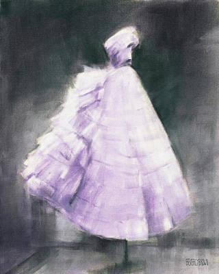 Painting - Vintage Chic Lavender And Gray by Beverly Brown