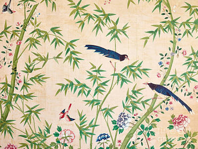 Vintage Chinese Wallpaper Design Art Print