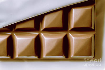 Temptation Photograph - Vintage Chocolate Block Macro by Jorgo Photography - Wall Art Gallery