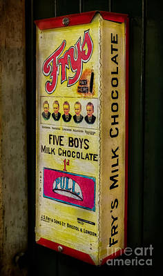 Enamel Photograph - Vintage Chocolate Vending by Adrian Evans