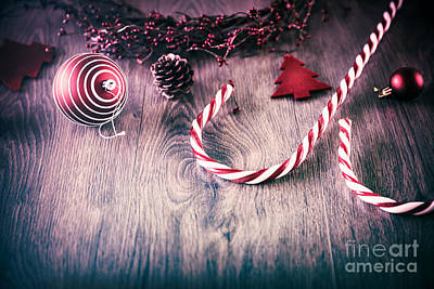 Photograph - Vintage Christmas Background by Anna Om