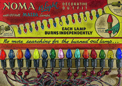 Photograph - Vintage Christmas Lights by Irwin Seidman